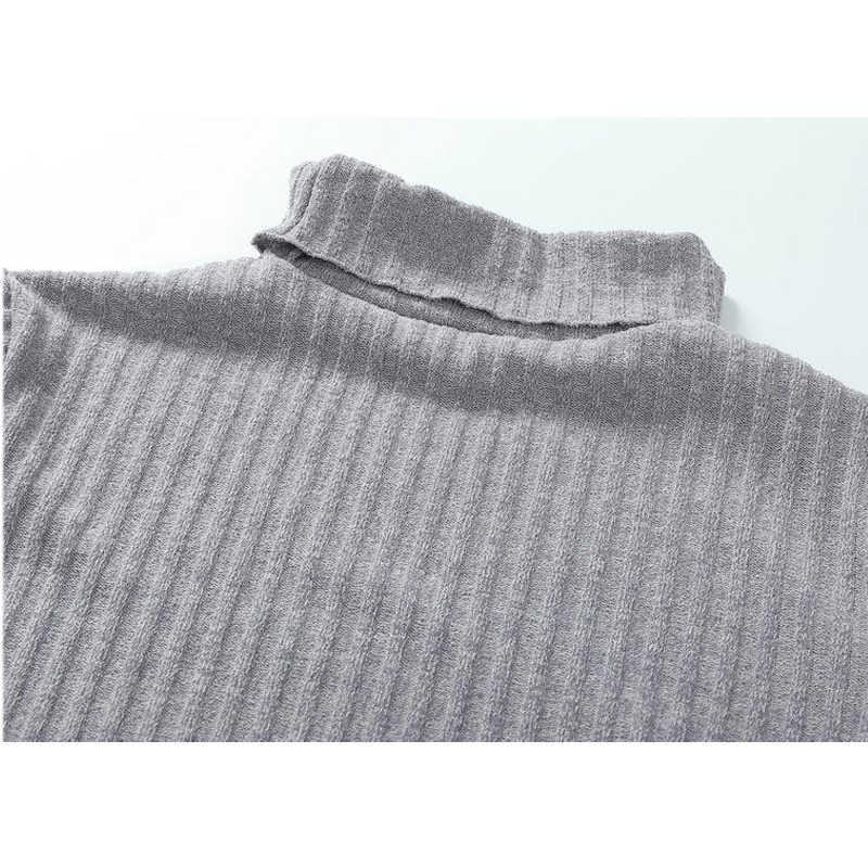 2019 סתיו החורף אלגנטי Midi סרוג סוודר שמלת נשים בתוספת גודל עיפרון המפלגה שמלת Vestidos שחור לבן Bodycon שמלות