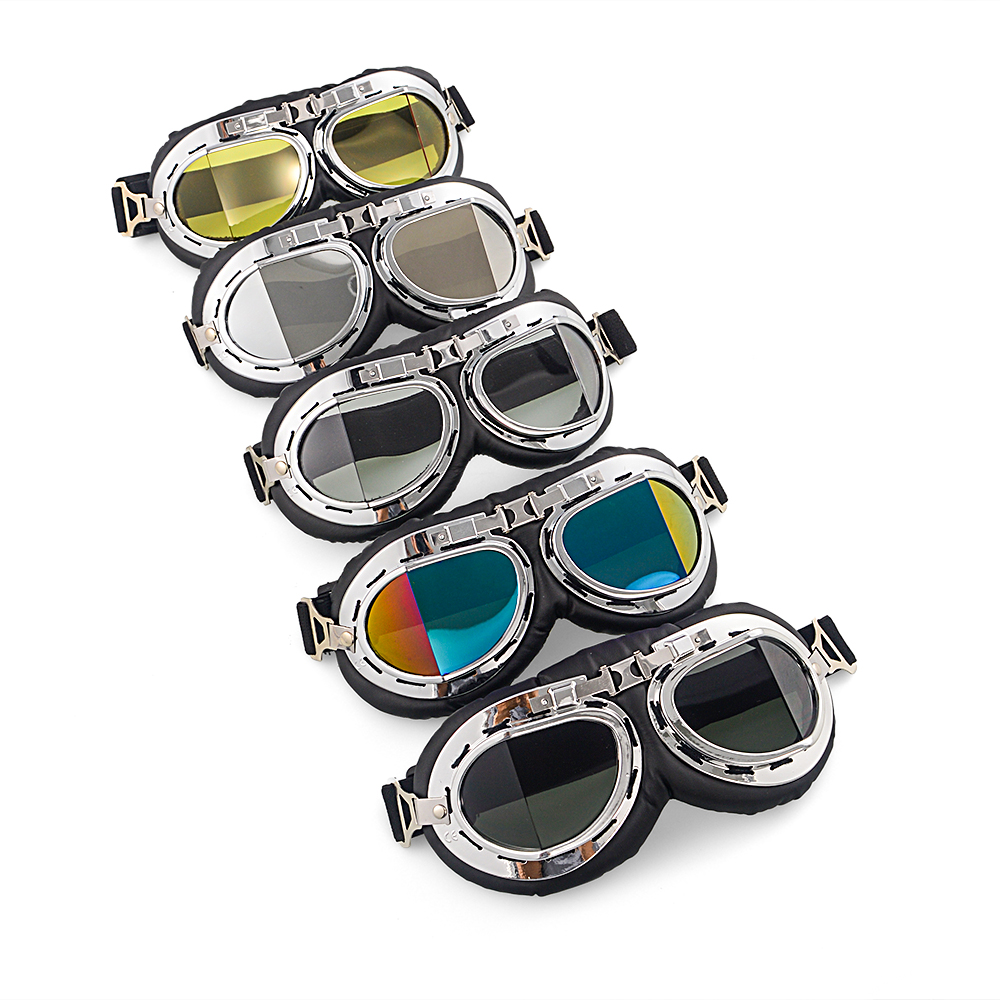 Retro Motorcycle Goggles Outdoor Motorcycle Glasses Sport Dirt Bike For Harley Moto Protection Eyewear UV Protection