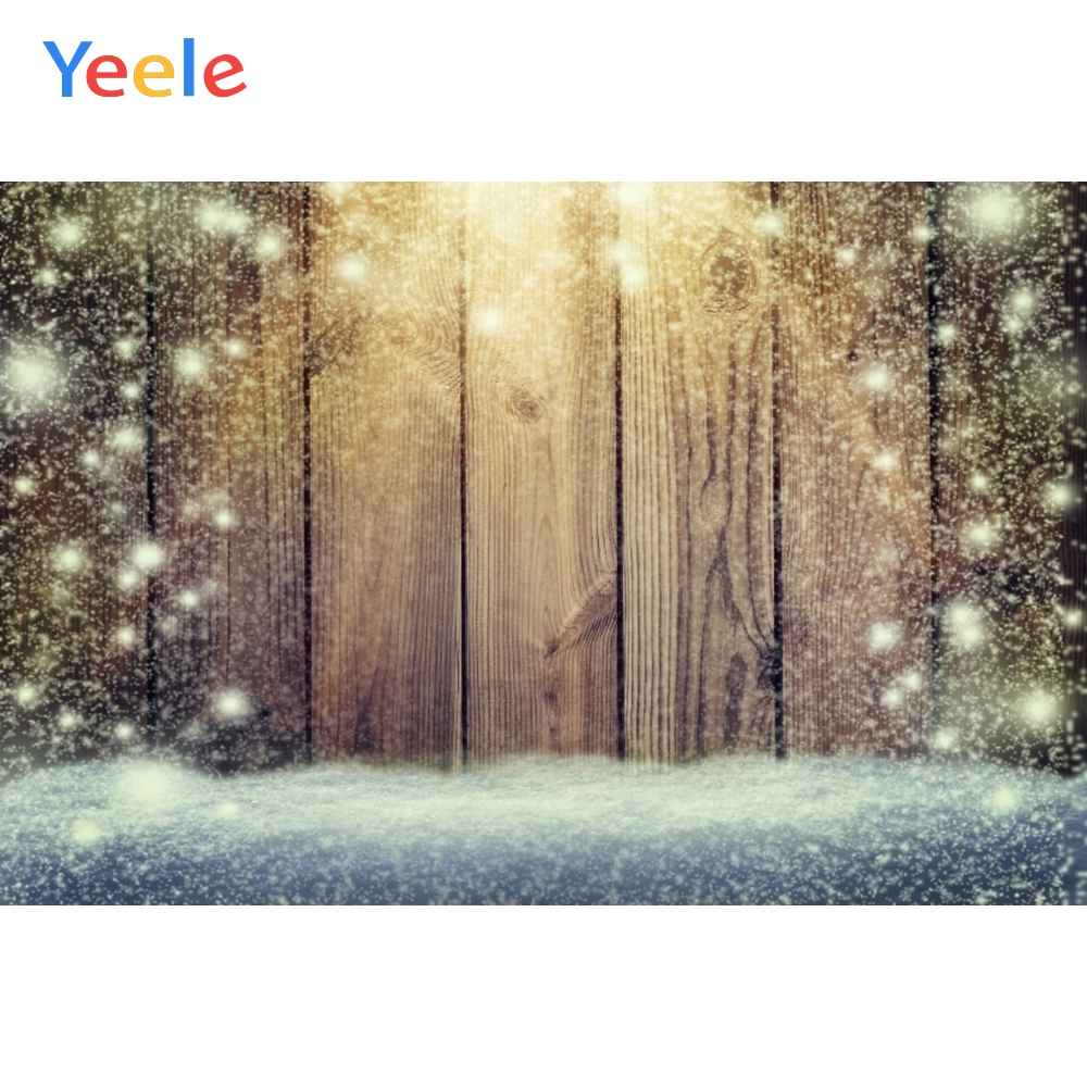 Yeele Christmas Backdrop Snow Wood Board Newborn Baby Birthday Party Custom Photocall Photography Background For Photo Studio in Background from Consumer Electronics
