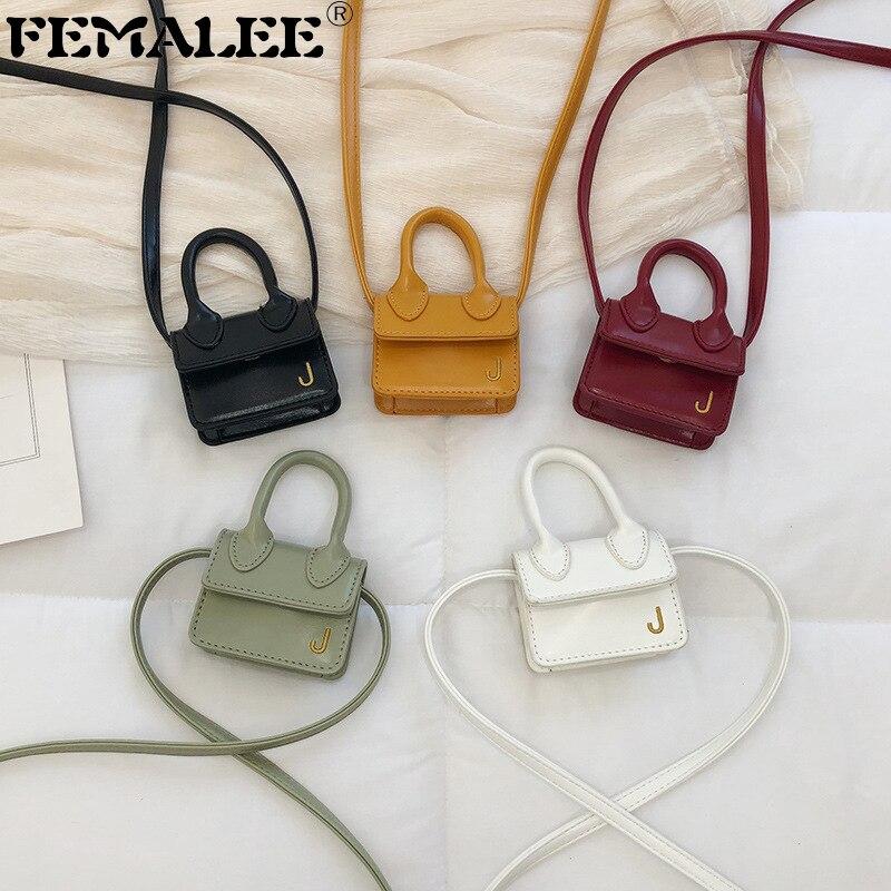 Fashion Super Mini Small Chain Girl's Messenger Bag Luxury Designer Cute Crossbody Bag J Letter Women Brand Handbag