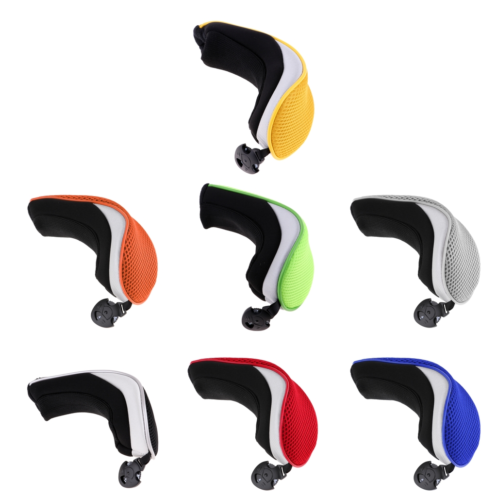 Mesh Golf Club Head Cover Hybrid Utility Headcover Protector Case With Interchangeable Number Tag