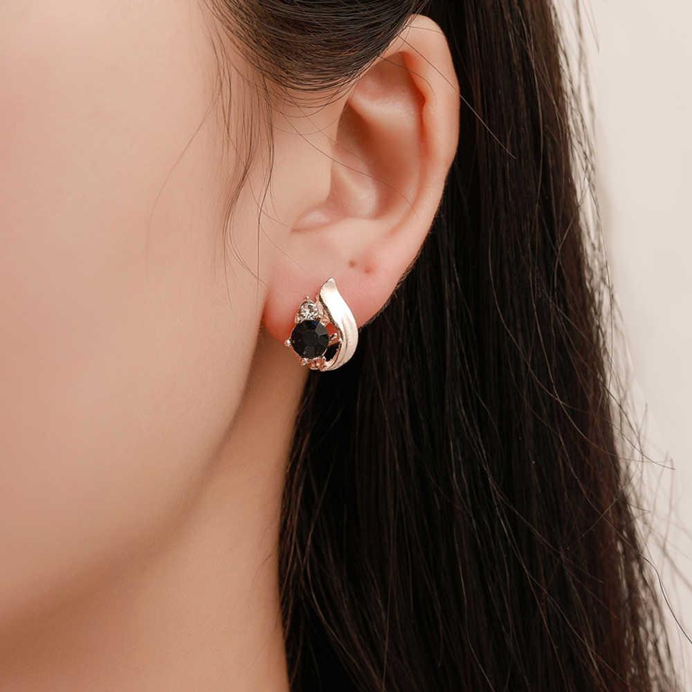 Vintage Obsidian Wasser Tropfen Femme Ringe Halskette Ohrringe Set Einfache Stein Unregelmäßigen Metall Anhänger Schmuck Zubehör Geschenk