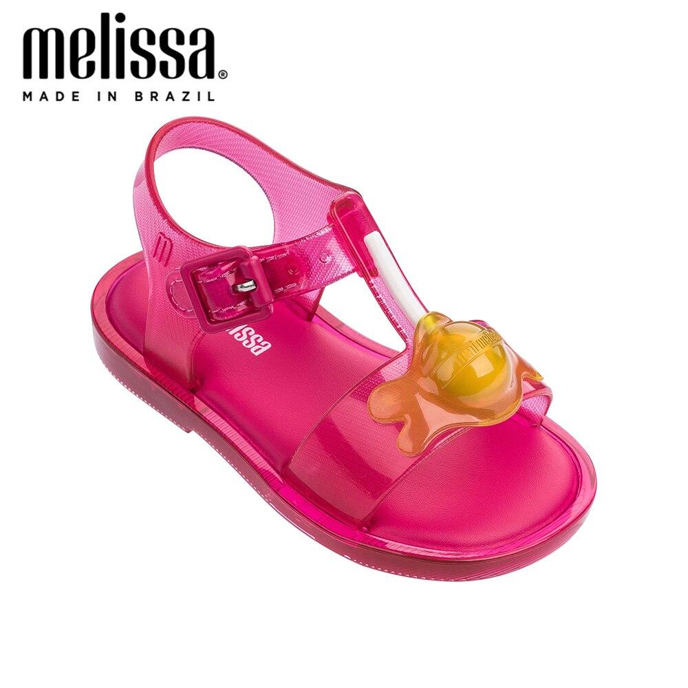 Mini Melissa Mar Sandal II Lollipop Girl Jelly Shoes Sandals 2020 NEW Baby Shoes Melissa Sandals Non-slip  Kids Shoes Children