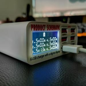 Image 5 - USB del Caricatore di 6 Porte HUB Display A LED Intelligente Del Telefono Mobile Veloce Rapido Rapido Stazione di Carica 30W 5V/6A Viaggio di Ricarica Adattatore di Alimentazione