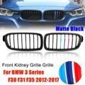 Пара матовая черная m-цветная глянцевая черная решетка для почек для 3 серий F30 F31 F35 2012 2013 2014 2015 2016 2017
