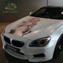 EARLFAMILY 43cm x 31.7cm adesivi per auto grandi per Darling in Franxx Zero Two Anime Beauty Sexy decalcomanie vinile impermeabile Car Wrap