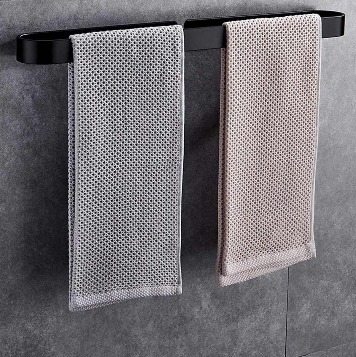 30/50/20CM toallero Blanco/Negro barra única baño colgante toallero barra colgador de toallas accesorios de almacenamiento de baño