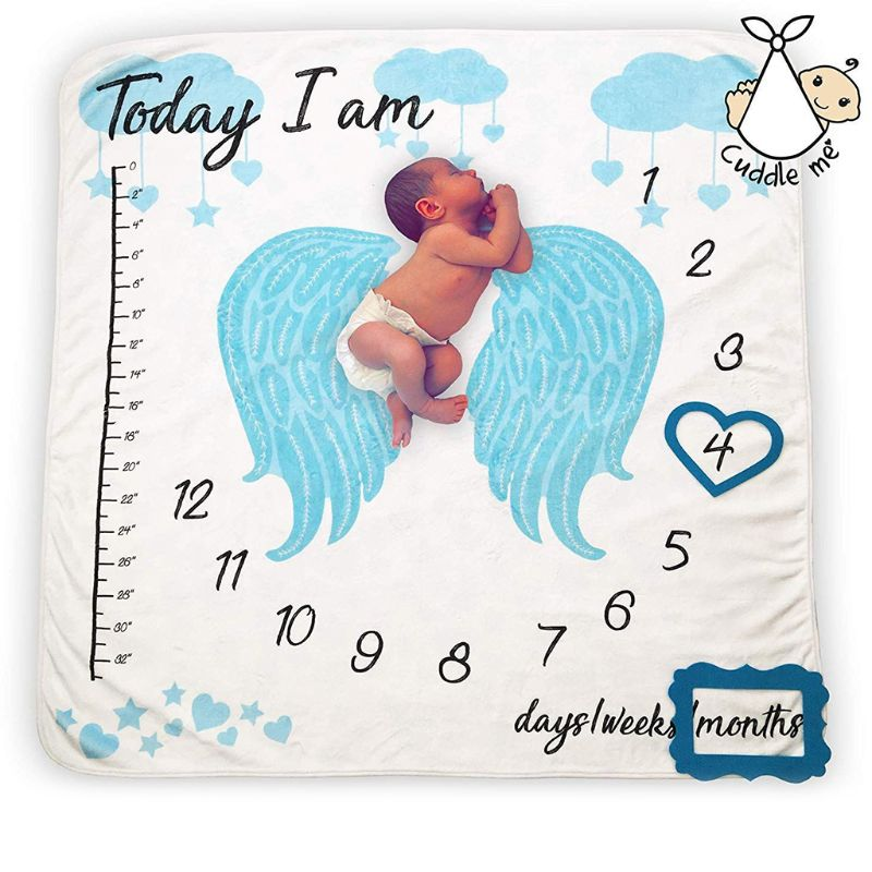 2019 Newborn Baby Growth Celebrate Blanket Props Photography Backgrounds Cloth Girls Boys Blankets