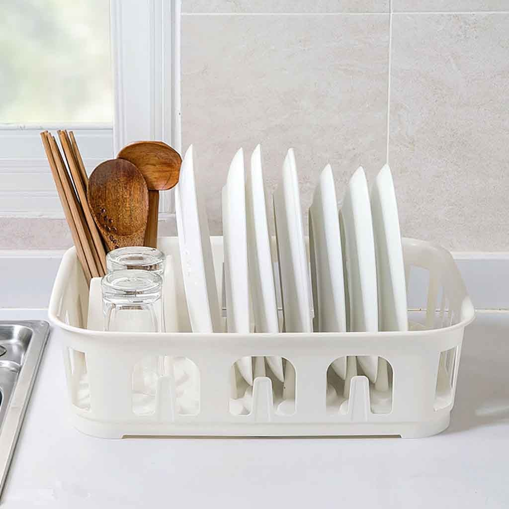 Nordic Multifunctional Kitchen Dish Rack 2-Way Quick-Drying Adhesive Holder Double Layer Draining Soap Holder Kitchen Storage
