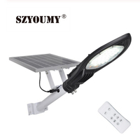 SZYOUMY 40w 60w 120w 180w led solar street light super high lumens with remote timing power and chargeing indicator