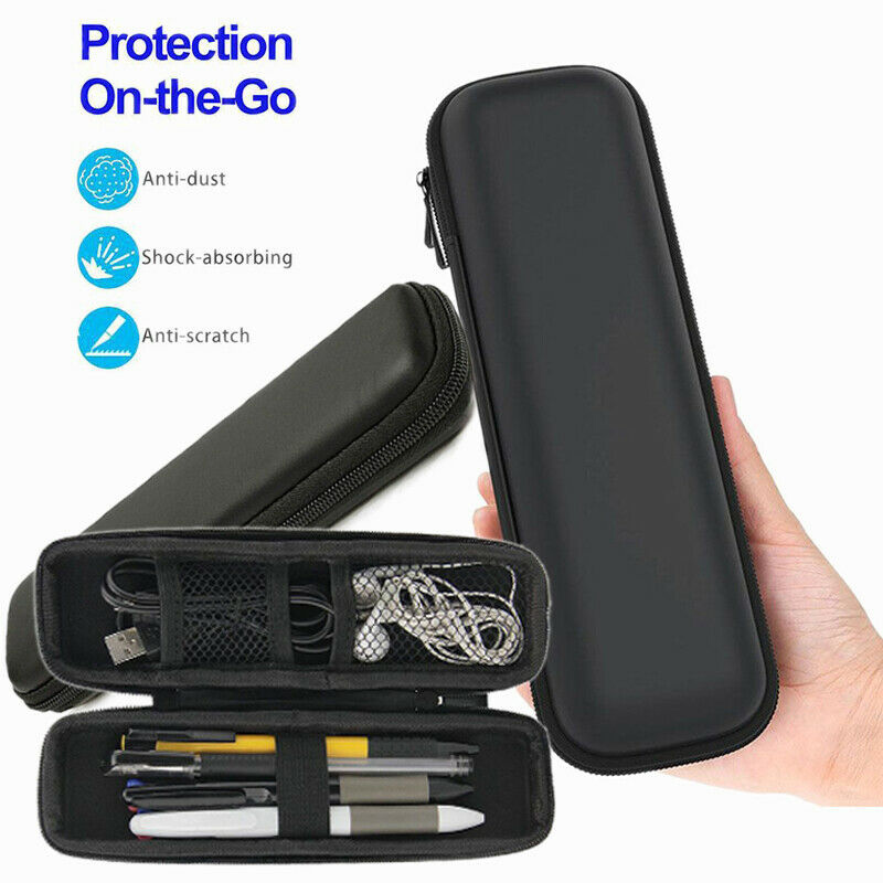 Newly Portable Pen Pencil Case Hard Shell Holder Pouch Stationery Box Makeup Bag Black C55
