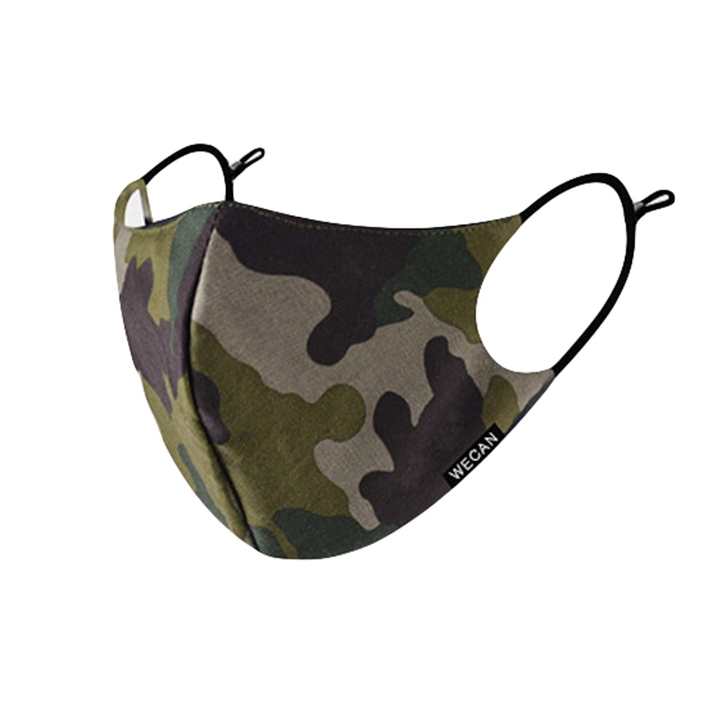 Anti Dust Pollution Face Mouth Mask Cotton Washable Reuse Protection Mascarillas Camouflage Outdoor Protective Masque Breathing