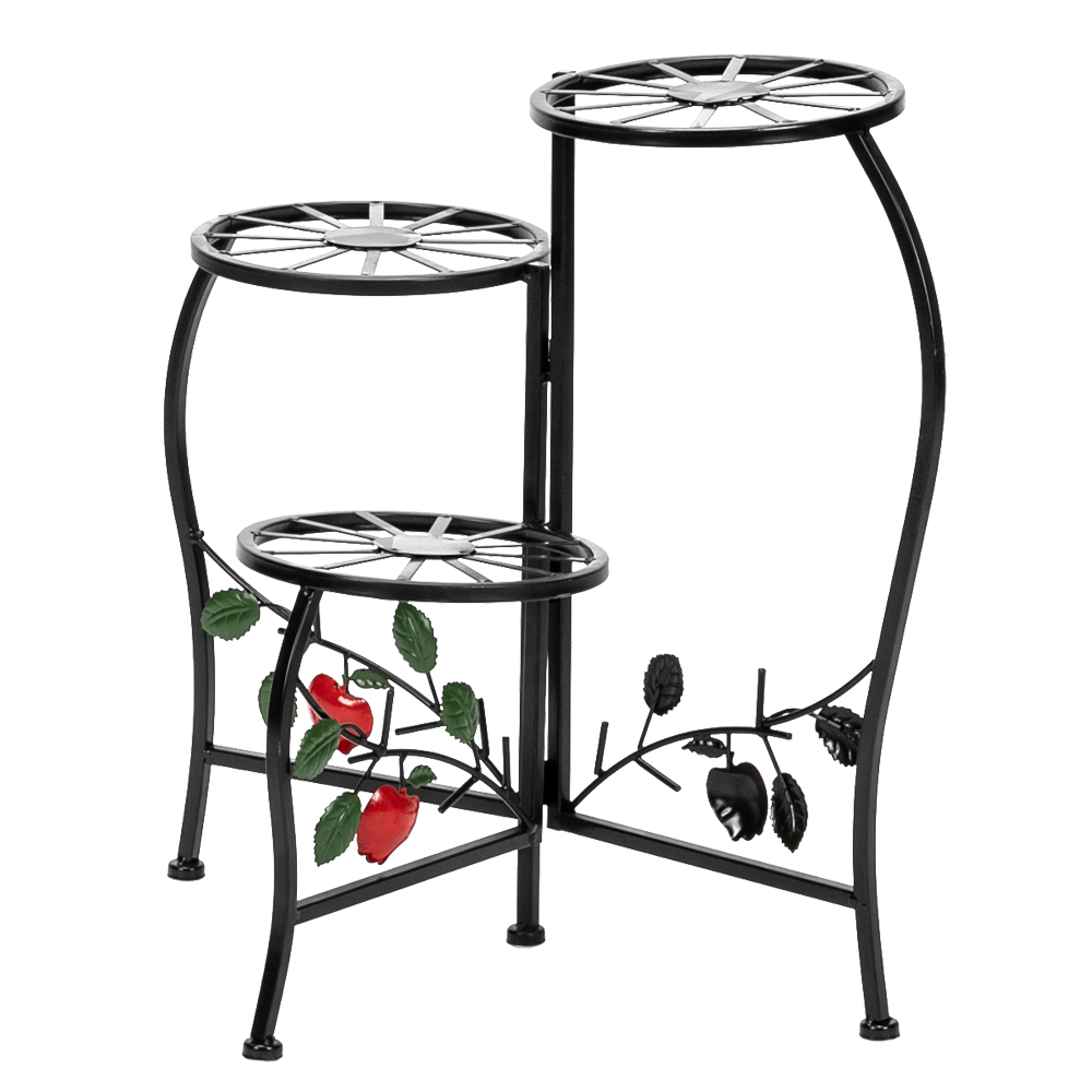 Household Wrought Iron Multi-layer Plant Stand Fence Rack Balcony Indoor Garden Flower Pot Shelf Detachable  Plant Stand