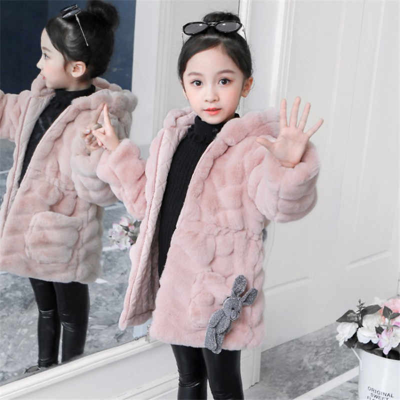 Abrigos De Moda Para Niñas Invierno Cálido Engrosamiento Prendas De Vestir Para Niños Lindo Abrigo Con Capucha De Dibujos Animados Ropa De Disfraz