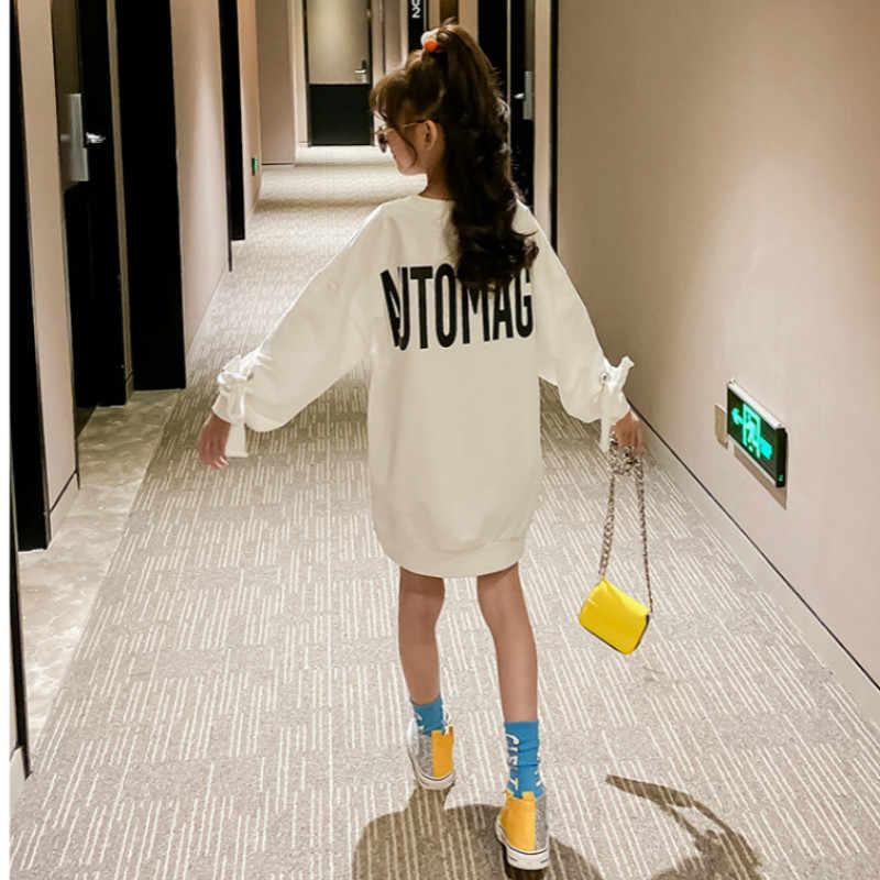 2020 meninas roupas de outono crianças moletom crianças carta impressão moletom para meninas bebê estilo longo moletom breve, #8328