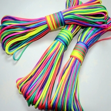 цена на 4mm Colorful Rope Paracord 550 Parachute Cord Lanyard Mil Spec Type III 7 Strand for Home Textile DIY Craft Climbing Camping