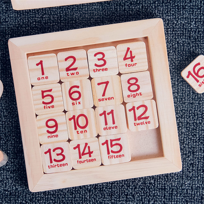 Puzzle toys  Wooden Toys Board 1-16 Consecutive Numbers Hundred Board Early Childhood Education Jigsaw puzzle game
