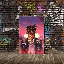 Juice Wrld Wall płótno artystyczne drukuje legendy nigdy nie umiera okładka albumu płótno artystyczne plakat malarstwo do salonu dekoracja sypialni P