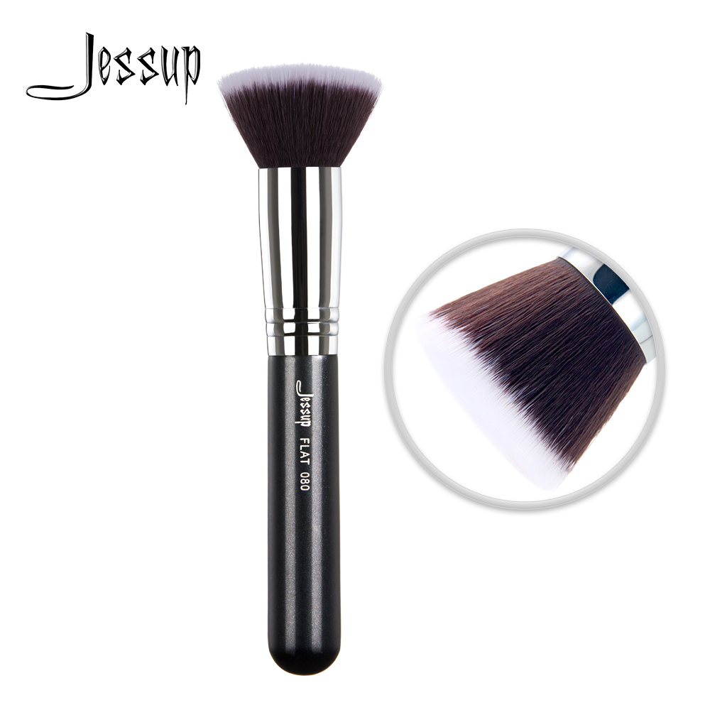 Jessup Brushes Face Brush Of Make Up Flat Blending Liquid Cream Synthetic Hair 080