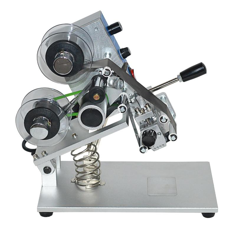 1pc 110/220V ZY-RM5 couleur ruban Machine d'impression chaude ruban thermique imprimante film sac date imprimante machine de codage manuel