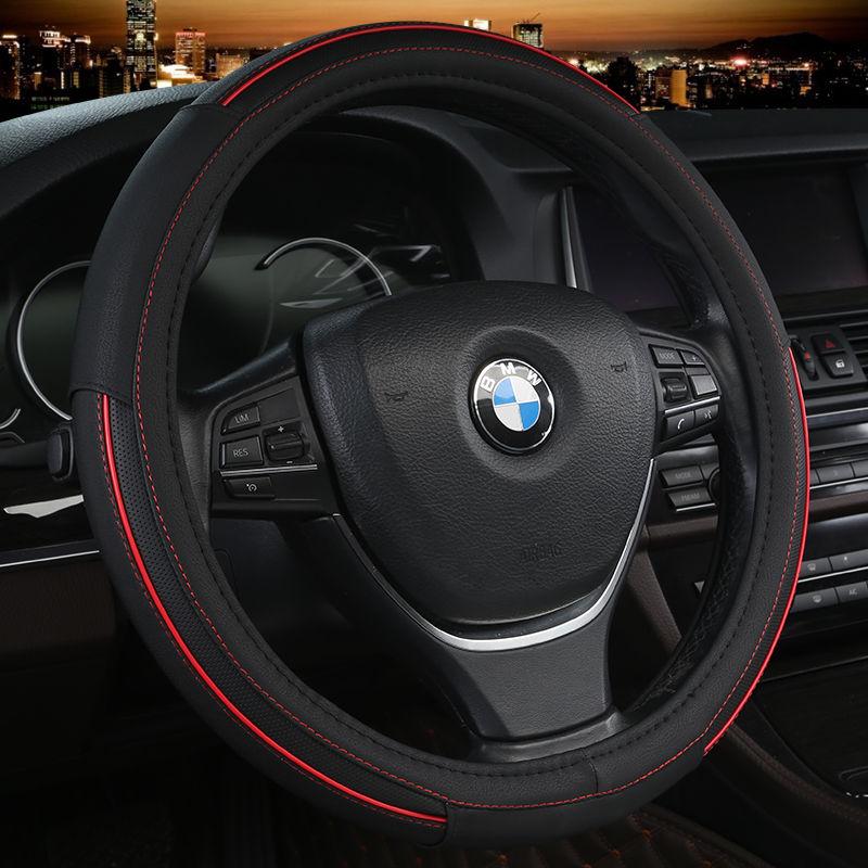 Universal car steering wheel cover Fashion Auto Wheel Covers Pu Leather Steering wheel Auto Interior Accessories Car styling Steering Covers     - title=