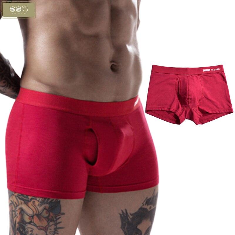 Men's Cotton Underwear Panties Boxershorts Underpants Breathable Pants Men Open Hole Boxers Homme Man Male Soft Pantied