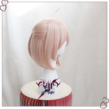 Gamer Fate Grand Order FGO Okita Souji Wig Cosplay Sakura Saber Short Synthetic Hair Anime Party Halloween Props 3