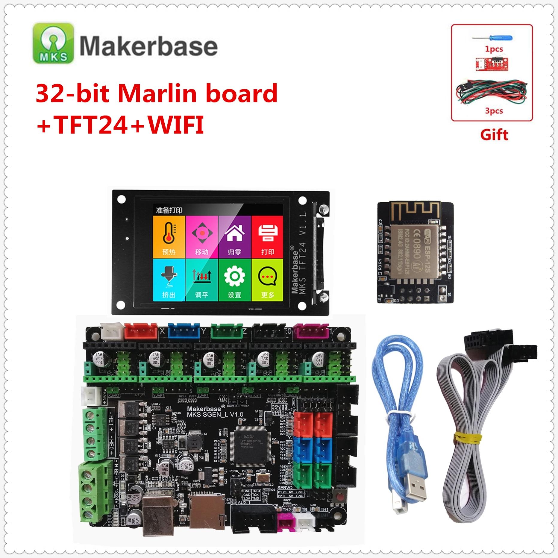 Best 3d Printer Upgrade Kits MKS SGEN L Smoothieboard + MKS TFT 24 Touch Screen + FiWi Monitor ARM 32 Bit 3d Printer Motherboard
