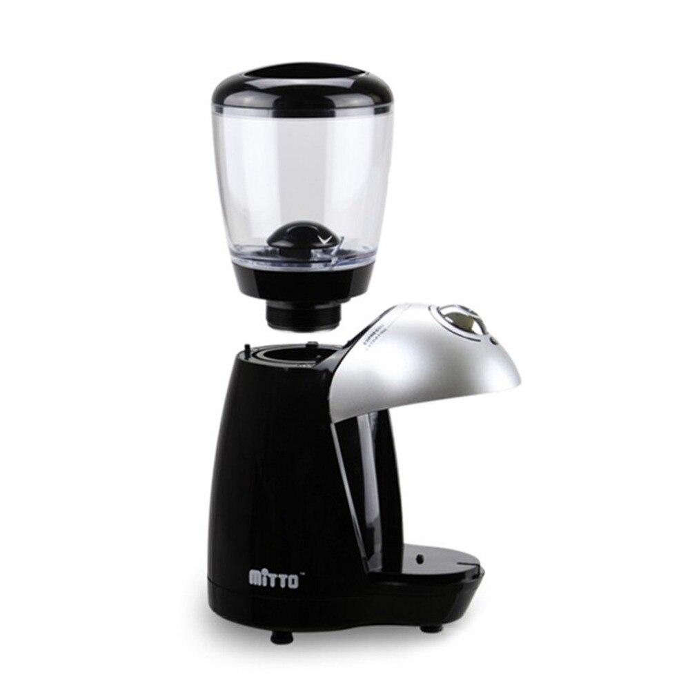 Ev Aletleri'ten Elektrikli Kahve Öğütücüler'de Kahve değirmeni ev elektrikli taşlama makinesi ile donatılmış 420 paslanmaz çelik taşlama diski kahve makinesi 220 240V title=