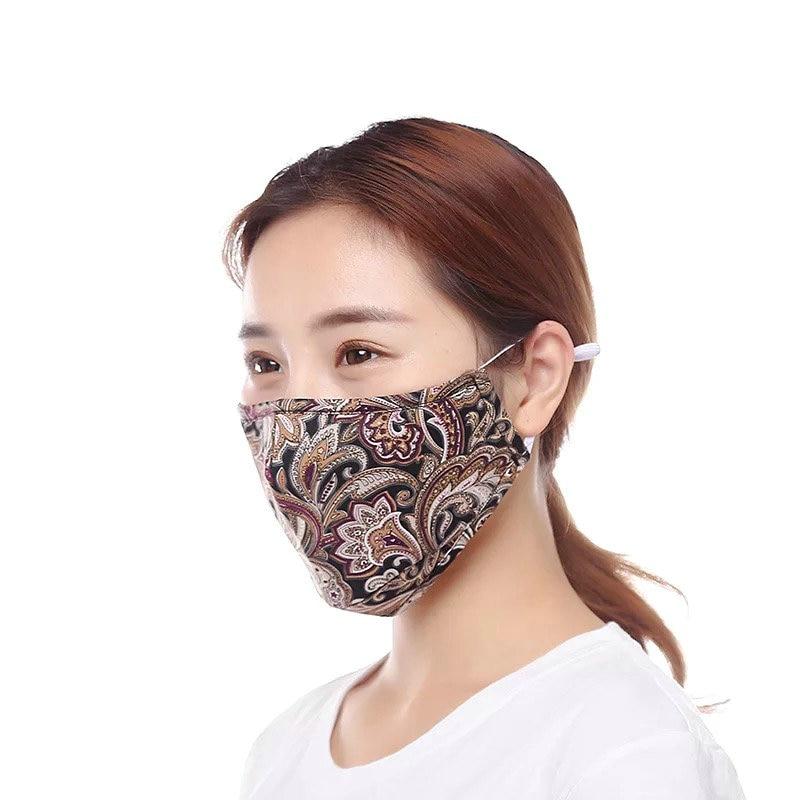 4pcs Prevent Dust Haze PM2.5 Anti Dust Mask With 1pcs Activated Carbon Filter Windproof Bacteria Proof Face Masks