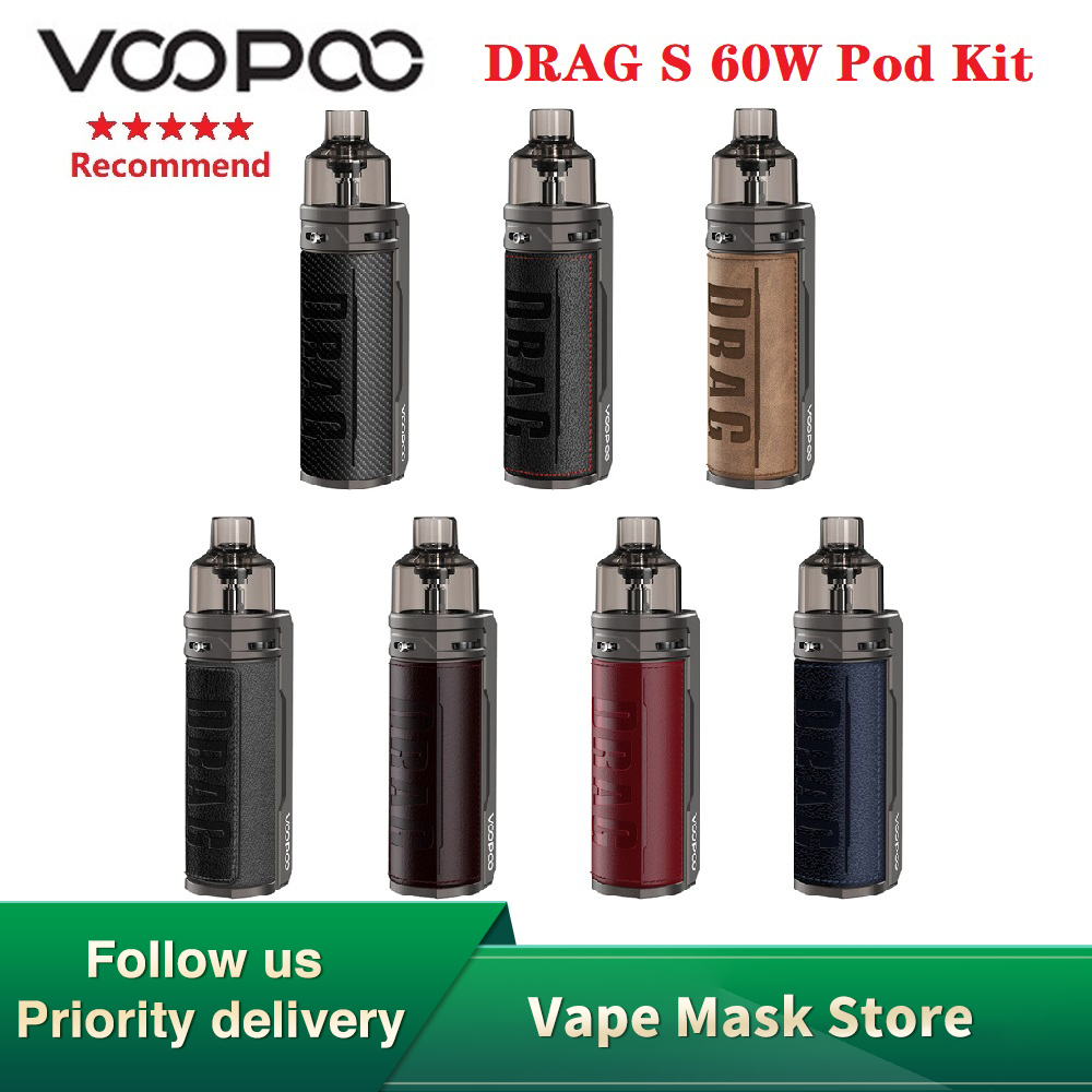 Original VOOPOO DRAG S 60W VW Pod Kit With 2500mAh Battery Max 60W Output Mod Pod System Kit With PnP Coil Vs Aegis/ Target PM80