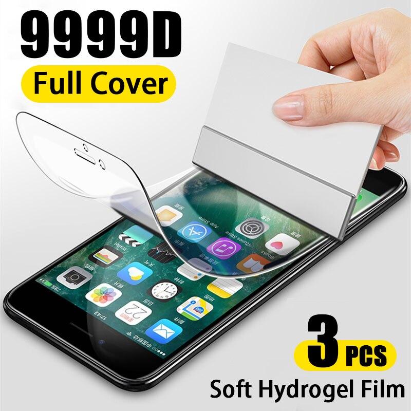 Гидрогелевая пленка с полным покрытием для iPhone XR X XS 11 12 Pro MAX mini, Защита экрана для iPhone 7 8 6s 6 Plus SE 2020, не стекло