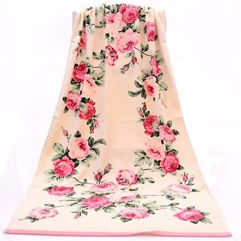 Bawełniany kreatywny ręcznik żakardowy chłonny szybkoschnący ręcznik plażowy ręcznik kąpielowy duże kwiatowe figury kreatywny para ręcznik do mycia 2 zestawy tanie i dobre opinie IJANCNEKF Zestaw ręczników Zwykły HANDMADE Prostokąt 9910 Można prać w pralce 20 s-25 s Floral 100 bawełna Drukowane