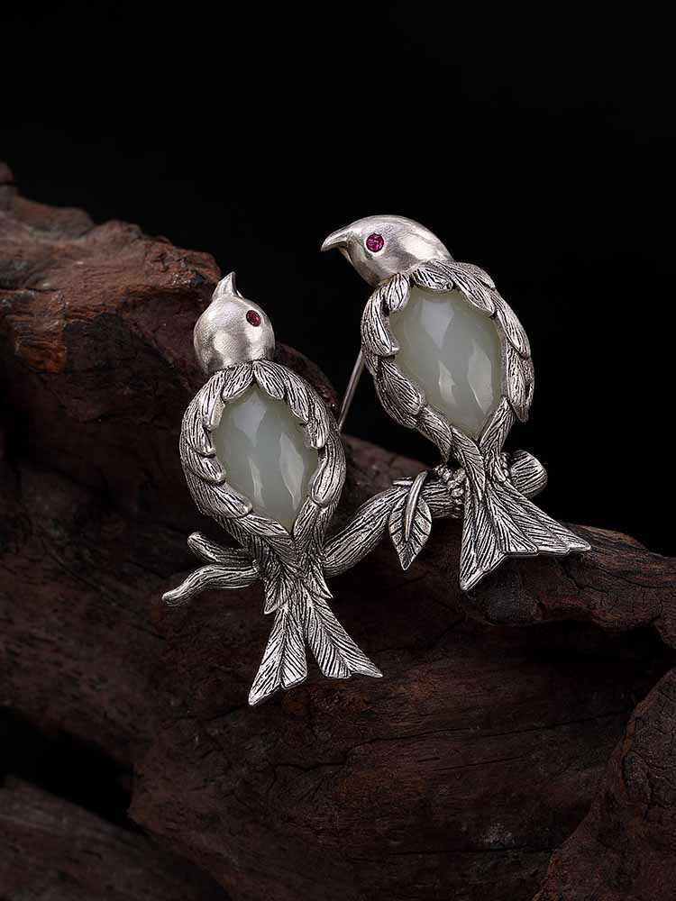Jewelry Woman Brooch Vintage Silver Pendant Brooch Woman Pendant