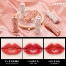 Novo moisturizing lipstick tomato red orange color soft lip cream waterproof lon