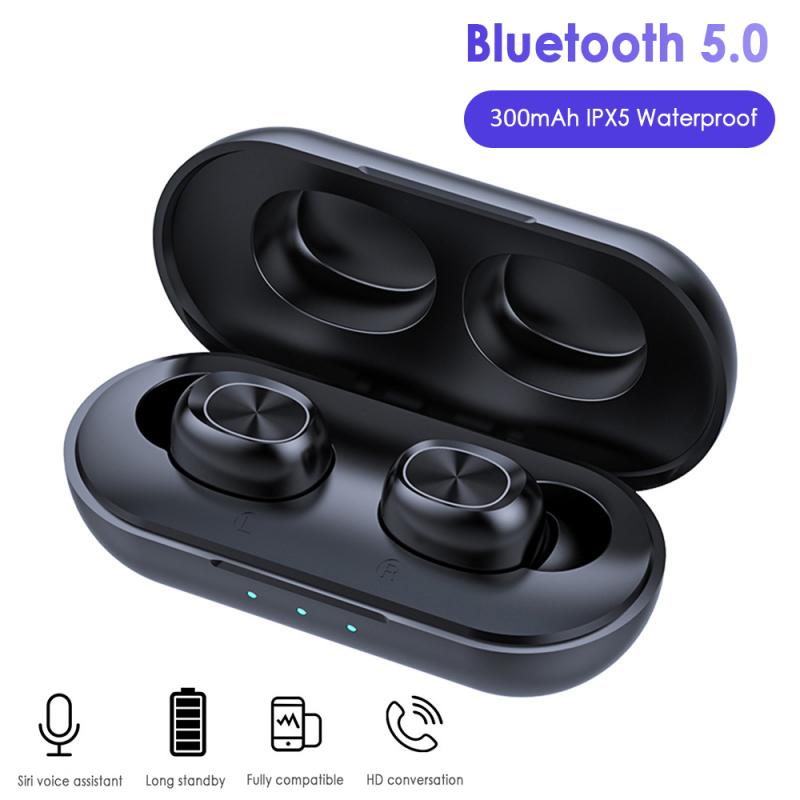 Mr B5 Wireless Bluetooth Earphone 5.0 Touch Control TWS Bluetooth Earbuds Waterproof 9D Stereo Music Headset 300mAh Power Bank