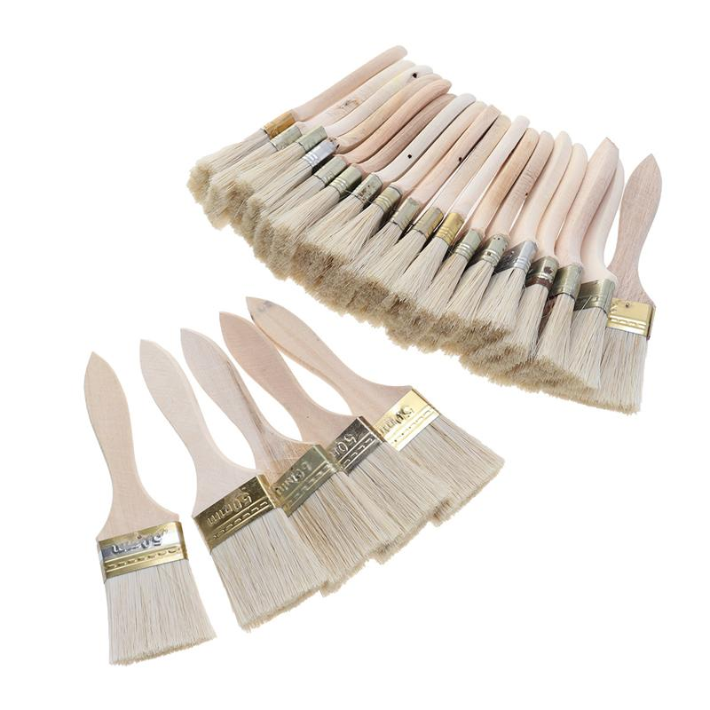 23pcs Paint Brushes Wooden Handle Bristle Brush For Wall And Furniture Painting (2inch, Thin Handle)