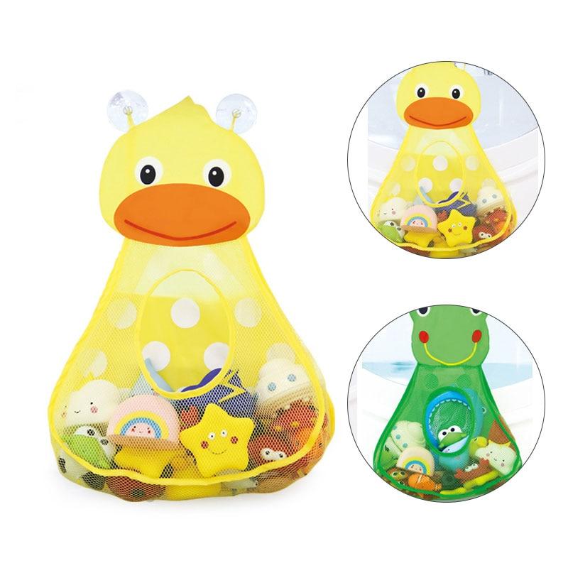 Baby Bath Toys Duck Showers Storage Bag Large Mesh Beach Bath Portab Foldable Bag Baby Shower Games Reborn Baby Doll Water Games