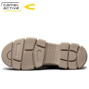 Image 3 - Camel Active Nieuwe Mannen Schoenen Hoge Kwaliteit Echt Leder Mannen Enkellaars Mode Winter Mannen Laarzen Warme casual Schoenen