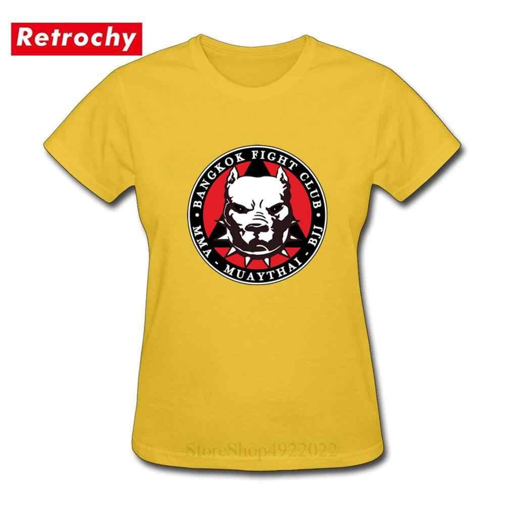 MMA Muay Thai BJJ-Bangkok Fight Club camiseta brasileña jiu-jitsu camisa mujeres Karate artes marciales lucha O cuello Fitness T camisa
