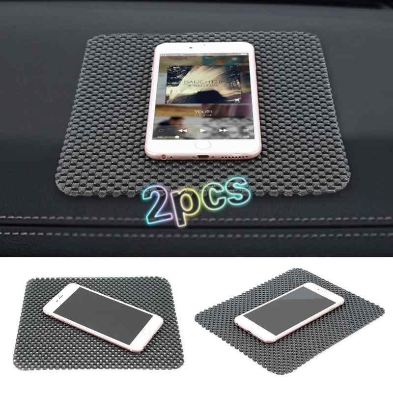 Najnowsza czarna pcv Auto Car antypoślizgowa deska rozdzielcza przyklejony podkładka dywanowa Non uchwyt maty antypoślizgowej telefony komórkowe GPS narzędzie wnętrza samochodu części samochodowe
