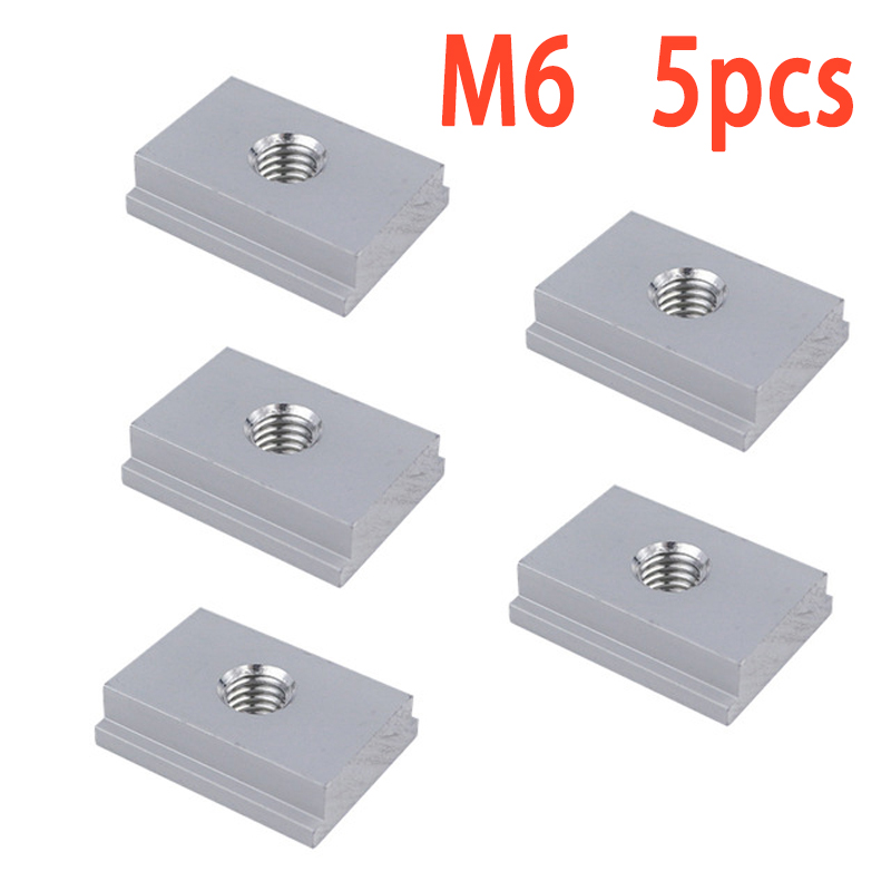 10 Pieces Aluminum Alloy Nut T Slot Screw Jigs Fastener M6/M8 Screw Slots Fasteners T-Track Sliding Woodworking Machinery Parts