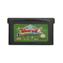 สำหรับNintendo GBAเกมคอนโซลการ์ดDragon Quest Monsters Caravanหัวใจภาษาอังกฤษรุ่นUS