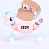 Corrente amor elf crianças brinquedos feitos à mão contas mágicas feitos à mão com relógio diy animais mágicos variedade pulseiras