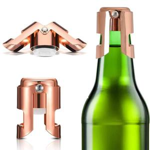Portable Stainless Steel Champagne Bottle Cap Seal Strip Wine Bottle Stopper Sparkling Wine Champagne Cork Champagne Cap