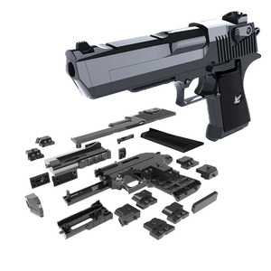 DIY Military Gun Handgun Pistol Desert Eagle Collection Model Can fire Building Blocks Toys For Kids Boys Gifts not Weapon