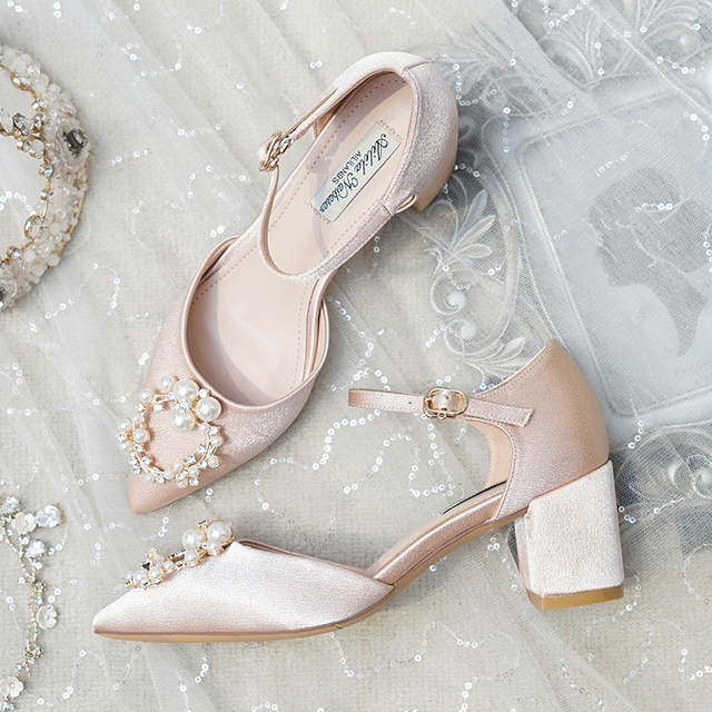Online Shop Wedding Shoes Female Crystal 2019 New Strap On Bride