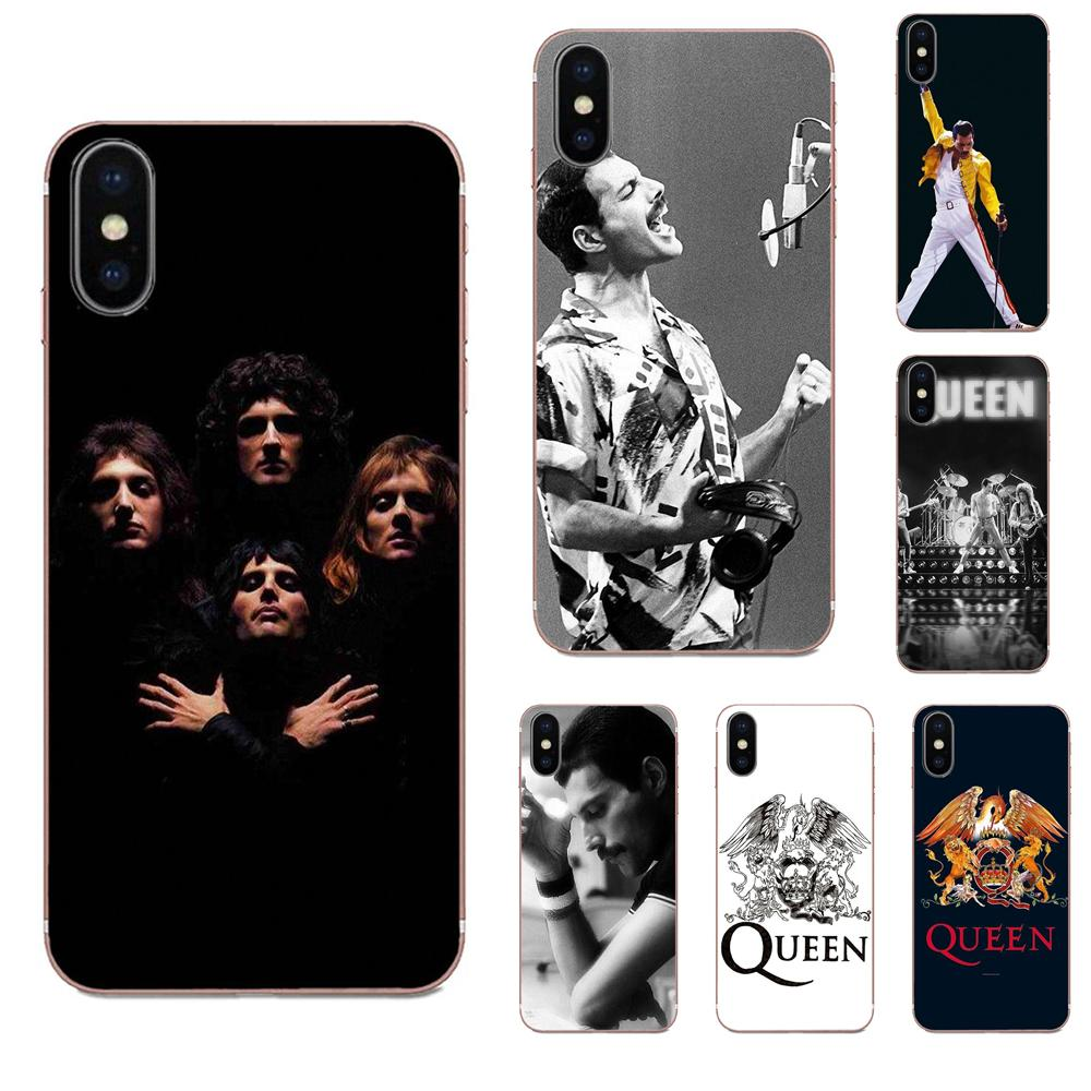 King Queen Freddie Mercury Queen Rock Band For Samsung Galaxy Note 5 8 9 S3 S4 S5 S6 S7 S8 S9 S10 5G mini Edge Plus Lite(China)