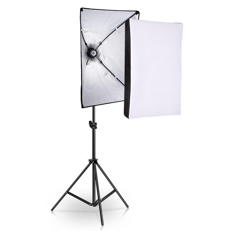Kit de iluminação softbox da fotografia do equipamento do estúdio da foto 50x70cm caixa macia contínua profissional do sistema de luz
