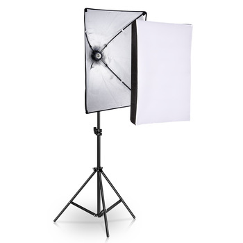 사진 스튜디오 장비 사진 소프트 박스 조명 키트 50x70cm 전문 연속 조명 시스템 소프트 박스